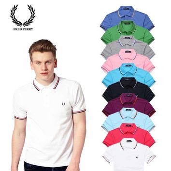 Hot Sale Fred Perry MEN Polo Shirt 100% COTTON TOP