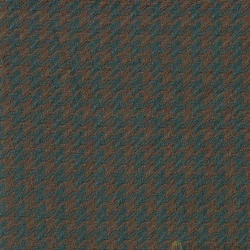 Turquoise Geometric Polyester Fabric