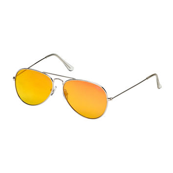 Blue Planet Sunglasses - Hayes - Silver/Red