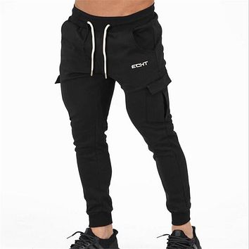 2017 Men's gyms pants bodybuilding clothing Men's gasp workout casual sweatpants fitness joggers pants skinny trousers