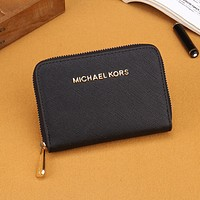 Perfect MK Michael Kors Women Leather Buckle Wallet Purse