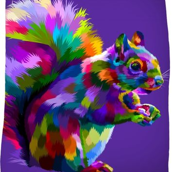 ROFB What About The Squirrel Fleece Blanket