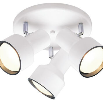 Three-Light Indoor Multi-Directional Flush-Mount Ceiling Fixture