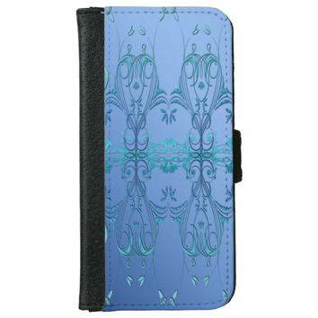 Ornate Blues Wallet Phone Case For iPhone 6/6s