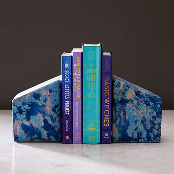 Concrete Cat Marble Bookends Set | Urban Outfitters