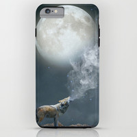 The Light of Starry Dreams (Wolf Moon) iPhone & iPod Case by Soaring Anchor Designs