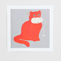 Paul Blow Cat & Mouse Art Print - Urban Outfitters