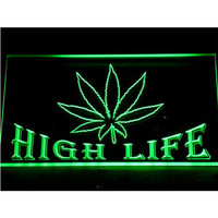 404 Free the Weed  Marijuana High Life Neon Light Sign (Free Shipping to usa)