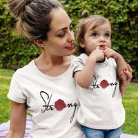 Mom Daughter shirts, Strong shirts, Feminist shirts, Family shirts, Family shirts, Mom Dad Baby family shirts, matching  family shirts