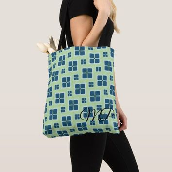 Blue and White Retro Windows Pattern Tote Bag