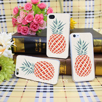 1515482N pineapple Style Hard Transparent Phone Cases Cover for iPhone 5 5s 4 4s 6 plus 5c Clear