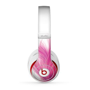 The Abstract Pink Flowing Feather Skin for the Beats by Dre Studio (2013+ Version) Headphones