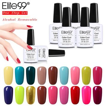 Elite99 One Step UV Nail Gel Polish Varnish Manicure Alcohol Removable No Need Base Top 10ml Healthy Nail Gel Polish Gelpolish