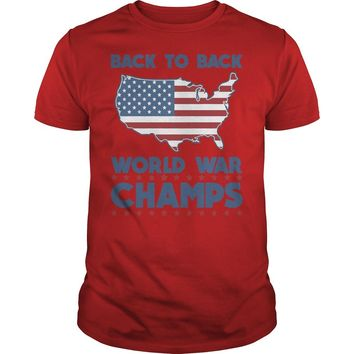 back to back world war champs shirt Premium Fitted Guys Tee