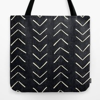 Mudcloth Big Arrows in Black and White Tote Bag by beckybailey1
