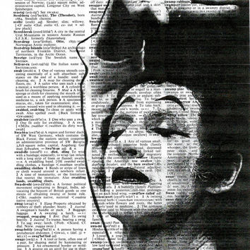 Marcel Marceau, Dictionary Art Print,Marceau Poster,Print on Dictionary Page, Poster,Digital print, Office Decor,Prints,French vintage,