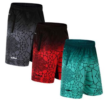 SUOTF men's basketball shorts breathable thin section quick-drying running fitness loose large short fireplace basket jersey