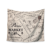 "Sylvia Cook ""French Script"" Handwriting Wall Tapestry"