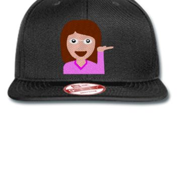 emoji girl hand left png Bucket Hat - New Era Flat Bill Snapback Cap