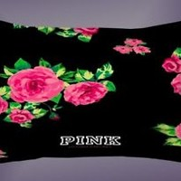 Top Victoria's Secret Pretty Pink Rose Pillow Case 16 x 24 20 x 26 2 Side Cover