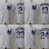 Best Deal Online Major League Baseball Jersey New York Yankees #23 Don Mattingly #24 Gary Sánchez #2 Derek Jeter  #13 Alex Rodriguez