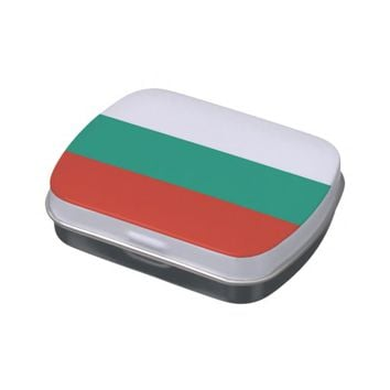 Patriotic candy tins with Flag of Bulgaria