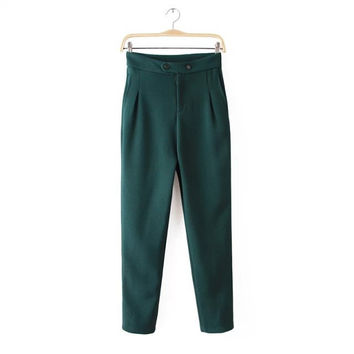 Autumn Stylish Casual High Rise Pants [5013281348]
