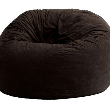 Comfort Suede Black Onyx 4 Ft Large Fuf Chair
