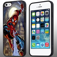 Marvel Comics Spiderman Iphone 4/4s 5 5c 6 6plus Case (iphone 6plus black)
