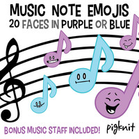 Music Note Emojis, Music Clip Art, Emoticon Clip Art, Marching Band, Face Clipart, Music Emoticon, Band Clip Art, Classroom Download
