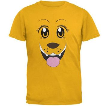 CREYCY8 Anime Dog Face Inu Gold Adult T-Shirt