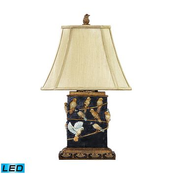 Birds On Branch LED Table Lamp in Black West Riding Black