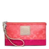 Coach :: Legacy Weekend Colorblock Nylon Zippy Wallet