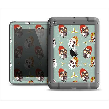 The Cartoon Snowy Colored Owls Apple iPad Air LifeProof Fre Case Skin Set