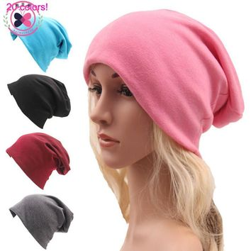 Casual Women Fashion Beanies Beanie Couple hats Unisex Solid Color Slouchy  Knitted Cap Autumn Spring Hat