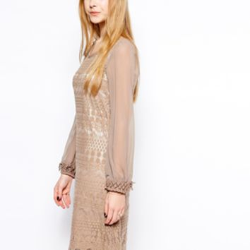 Yumi Lizzie Dress - Beige