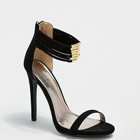 Black Strapped Ankle Pump By Qupid®