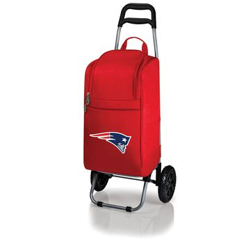 New England Patriots - Cart Cooler with Trolley (Red)