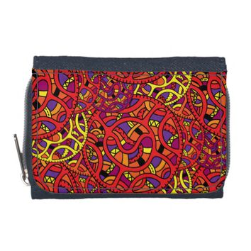 Colorful Organic Pattern Wallets
