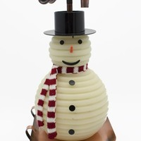 Candle by the Hour 100-Hour Snowman Candle, Copper Base, Eco-friendly Natural Beeswax with Cotton Wick