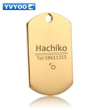 YVYOO Personalized Free engraving Circular dog tag Pet collar accessories ID tag name telephone Support multi-language B01