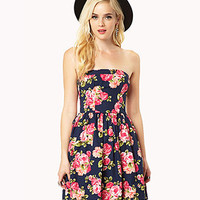 Rosebud Strapless Dress | FOREVER 21 - 2037583567