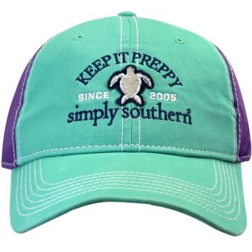 "Simply Southern ""Preppy Turtle"" Hat - 2 Color Choices"