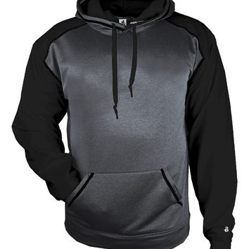 Badger 1468 Sport Heather Hood - Carbon Heather Black
