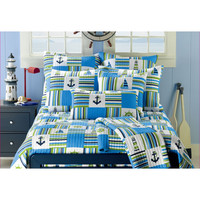 Anchor Blue 3-piece Quilt Set | Overstock.com