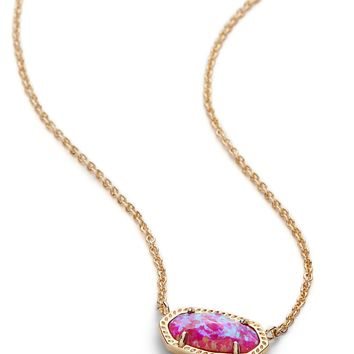 Kendra Scott Elisa Fuchsia Kyocera Opal Gold Necklace