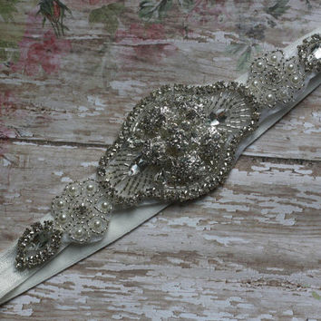 RHINESTONE HEADBAND, flowergirl, bride, adult, baby headband, girl headband, wedding, first birthday, photo prop, gatsby, baptism, communion