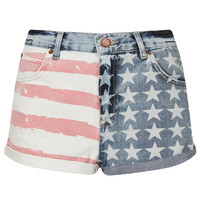 MOTO Flag Print Hotpants - Shorts - Clothing - Topshop USA