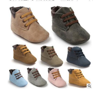 Romirus Winter PU Outdoor suede Leather Baby moccasins Shoes infant anti-slip first walker soft soled Newborn Baby boy Boots
