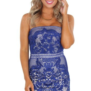 Cobalt Statement Lace Mini